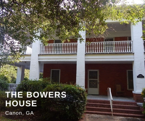 The Bowers House, Canon GA, The Writing Life