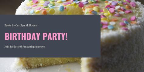 Birthday Launch Party for Primed For Revenge, Sydney Jones Series, Book 1, Carolyn M. Bowen